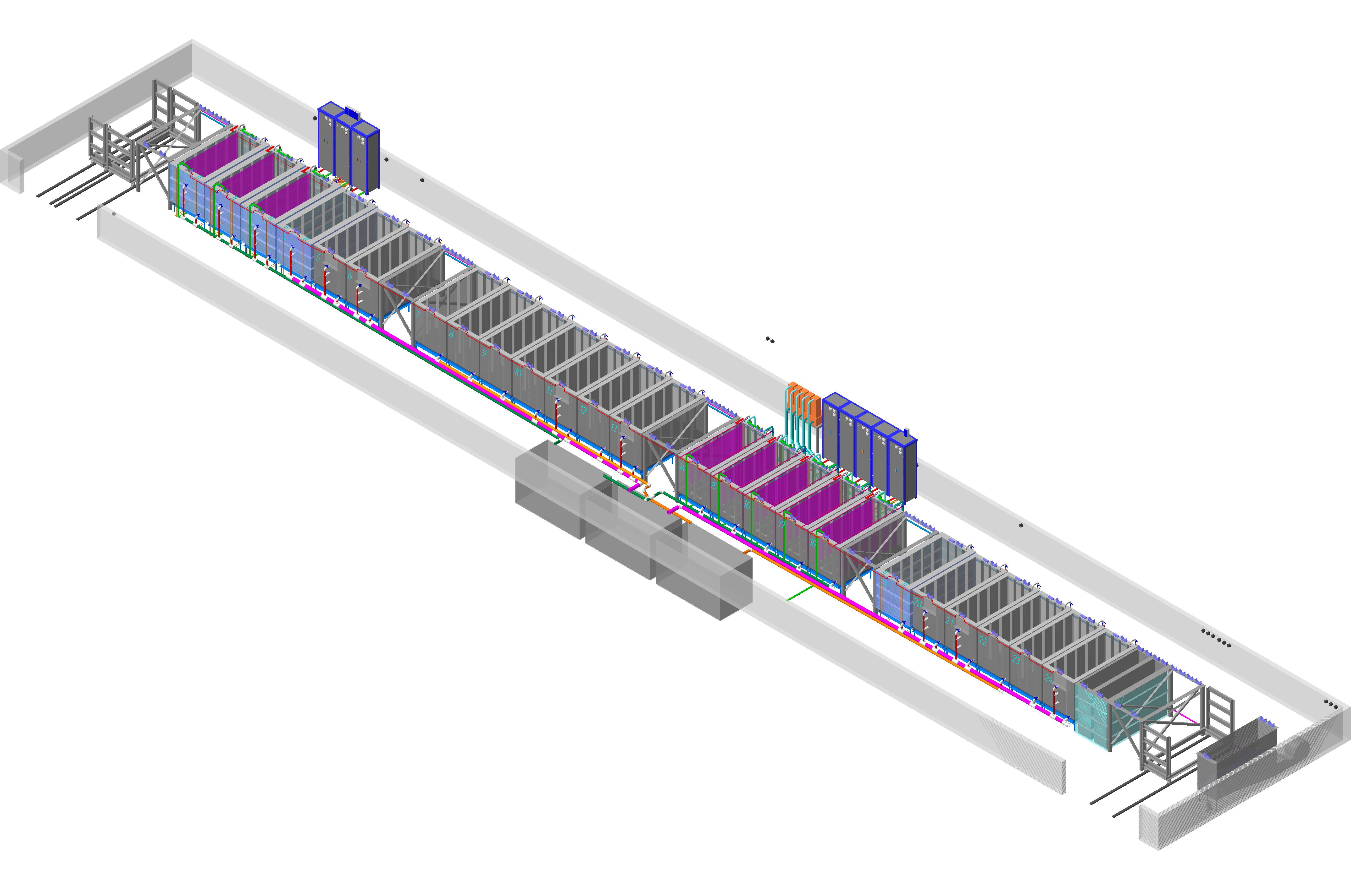 Схема линии гальванического цинкования