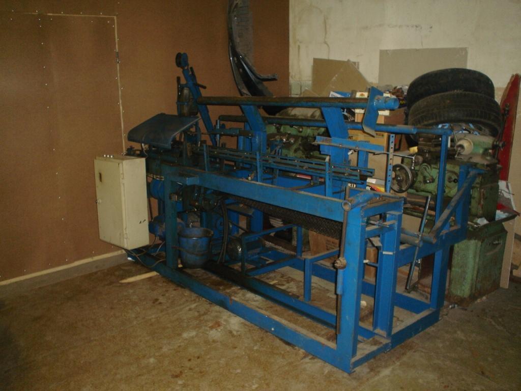 Станок - автомат для изготовления плетеной сетки (рабицы) ВСА-97.