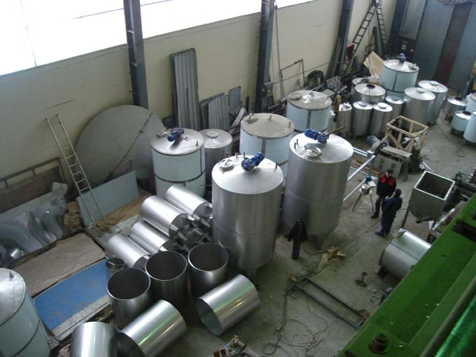 ...перемешивающими устройствами (мешалки) - вакуумное оборудование - термосмесители универсальные - емкости ЦКТ...
