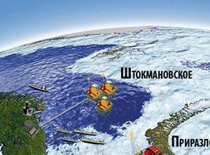 """... """"сланцевой лихорадки """", ставят под угрозу освоение Штокмановского месторождения """"Газпрома """" в Карелии."""