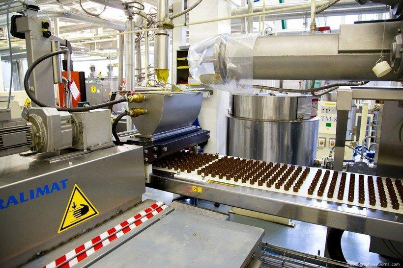конвейер по изготовлению конфет